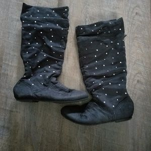 Girls Justice Black Boots size 5
